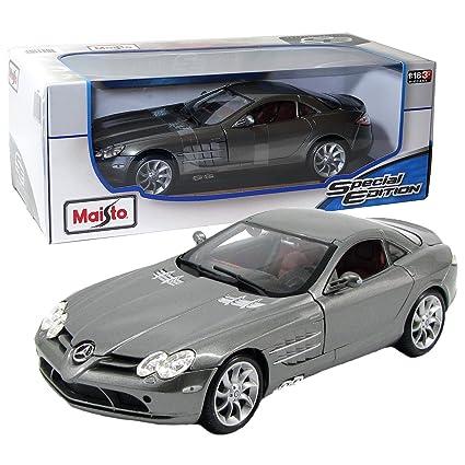Maisto 1:18 Metallic Scale Grey Mercedes Benz SLR McLaren