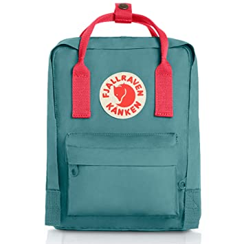 fab8cbcfe2f Fjallraven Kanken Mini Backpack (Frost Green-Peach Pink)  Amazon.in  Bags
