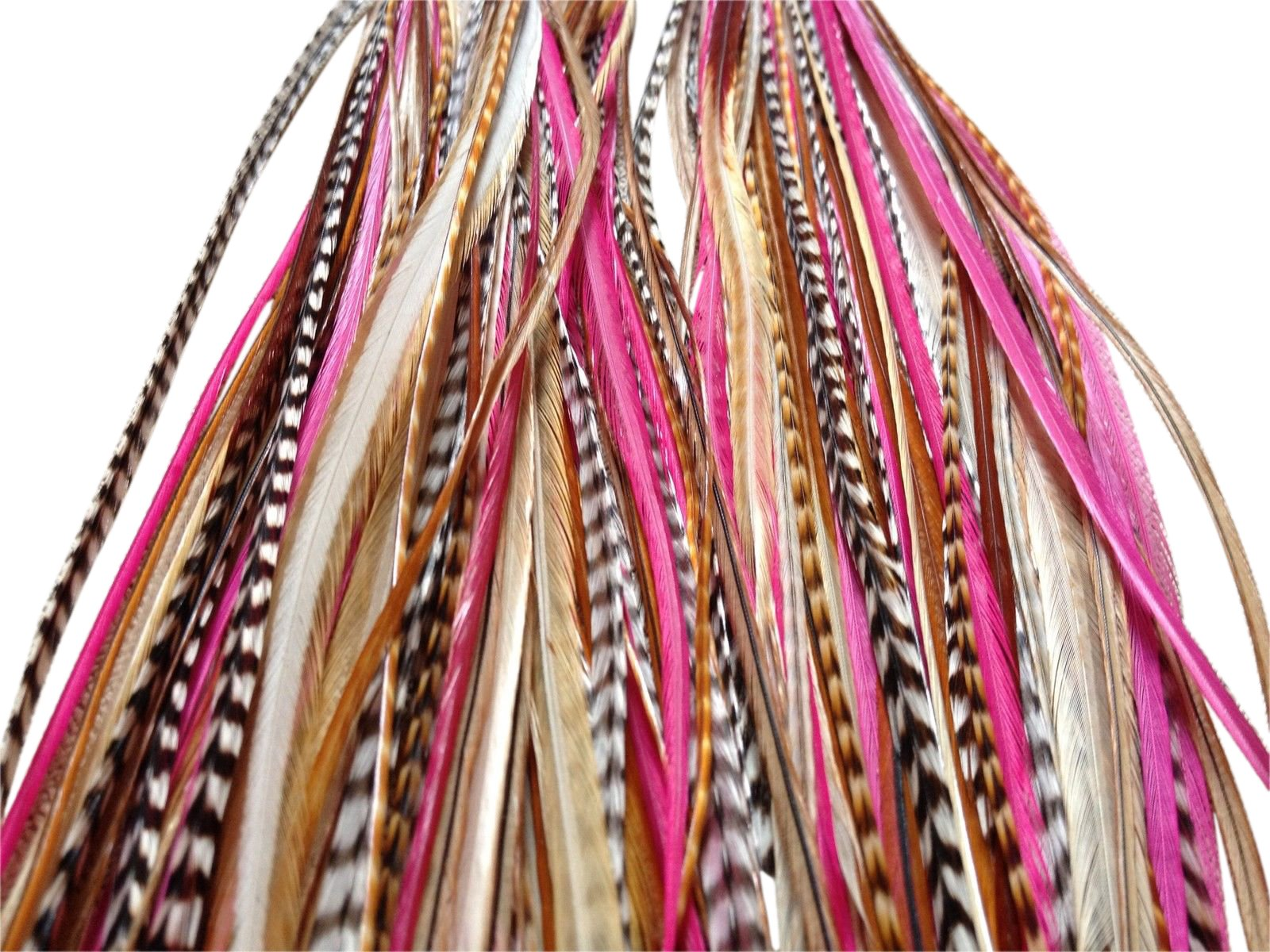 Feather Hair Extensions, 100% Real Rooster Feathers, 10 Long Thin Loose Individual Feathers, By Feather Lily