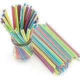 Zicome 150 Count Colored Lollipop Sticks, 6-Inch