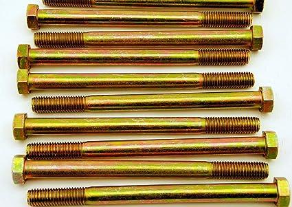 30 Hex Head 5//8-11 x 2 Grade 8 Bolts Yellow Zinc Cap Screws