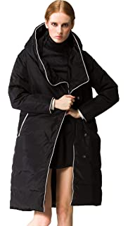 Orolay Womens Thickened Long Down Jacket with Hood