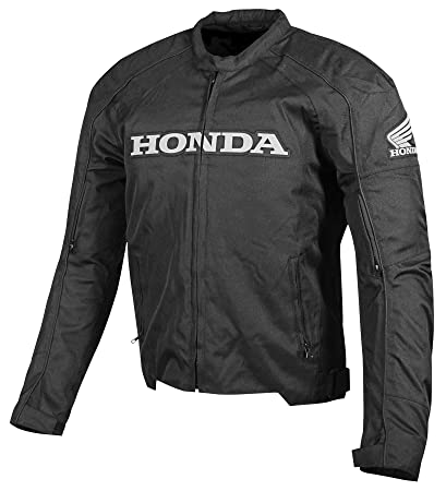 Honda Mens Supersport Textile Street Motorcycle Jacket, Black, Medium