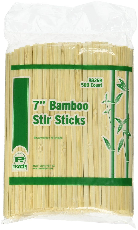 Royal 7 Bamboo Coffee Stirrers Package of 500 U25591R0