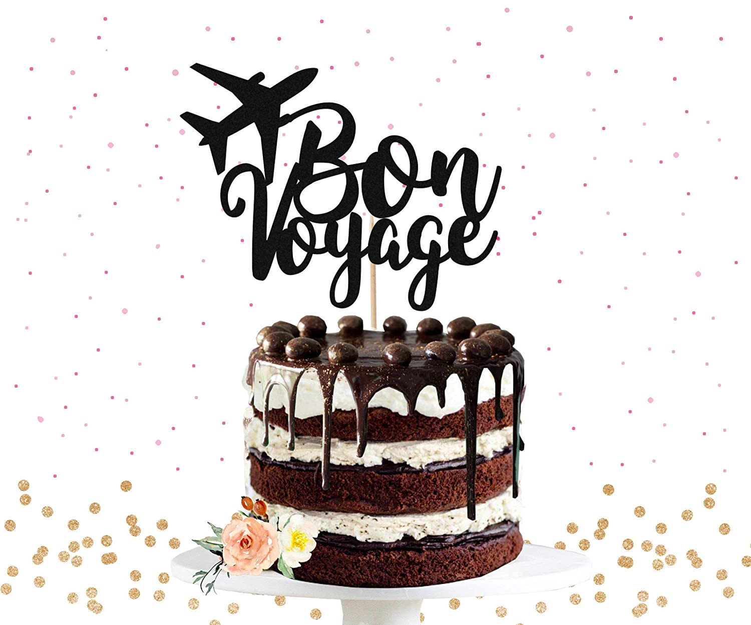 Bon Voyage Cake Topper Perfect for Retirement or Leaving Party