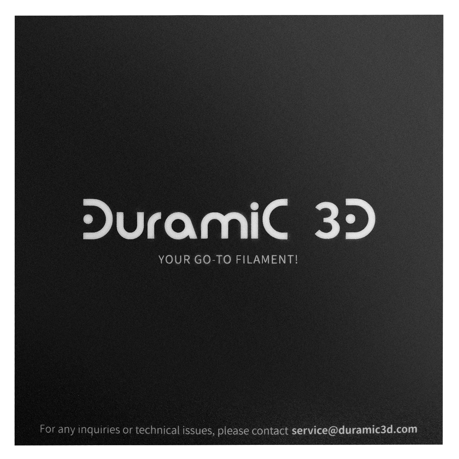 200x200mm 1 Pack DURAMIC 3D Printing Build Surface 7.87 x7.87in Reusable Printing Build Plate Sheet Sticker Black for 3D Printer Heated Bed