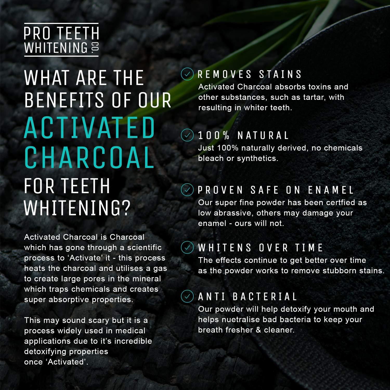 Pasta de Dientes Blanqueadora con Carbón Activo para Blanqueamiento y pasta de dientes hidratante por la noche | Hecho en el RU por Pro Teeth ...