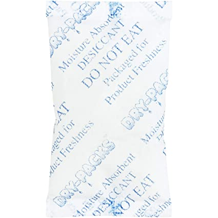 098cc1871 Amazon.com: Silica Gel Desiccants 2-1/4 x 1 1/2 Inches - 25 Silica Gel  Packets of 10 Grams Each by Dry-Packs: Home & Kitchen
