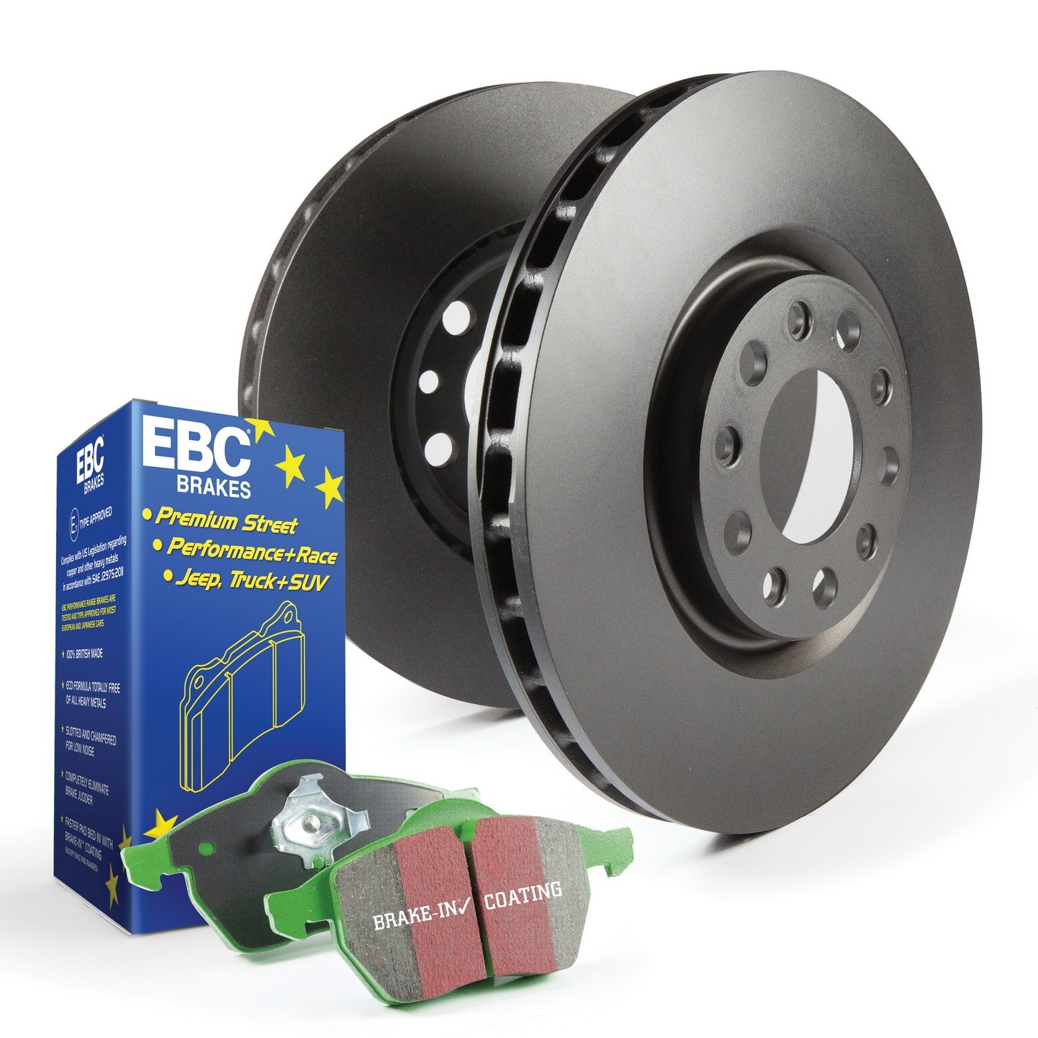 EBC Brakes S11KR1116 S11 Rear Kits Greenstuff 2000 and RK Rotors