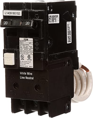 Murray MP220GFA 20 Amp 2-Pole GFCI Circuit Breaker with Self Test Lockout Feature