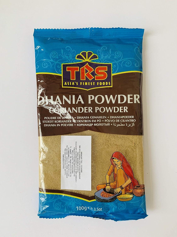 TRS Dhania Powder 100 gramos - Cilantro En Polvo Especia: Amazon.es: Alimentación y bebidas