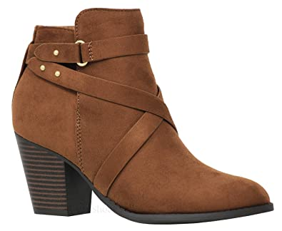 Strap MVE Schuhes Damens's Buckle Strap  Chunky Heel Ankle caa164