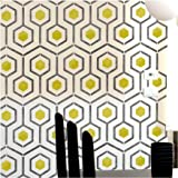 Hicks Hexagon Furniture Wall Floor Stencil for Painting - Furniture Small