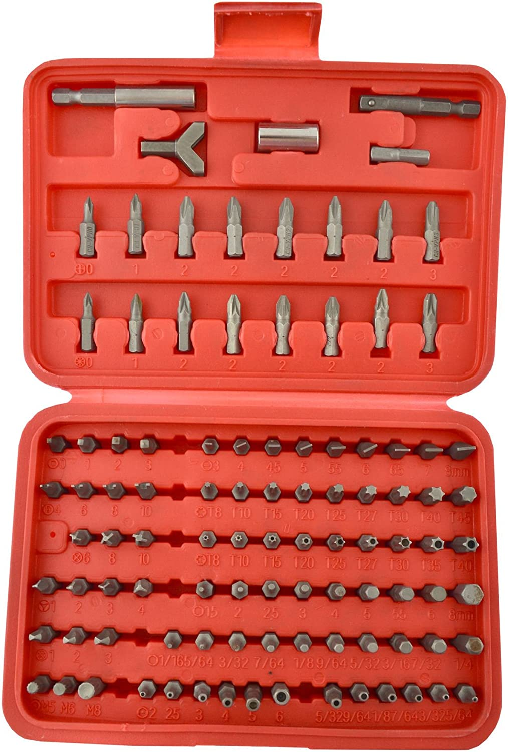 100pc Screwdriver Drill Wrench Torx Security Bit Tamperproof Hex TH244
