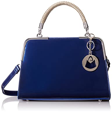 Navy Blue Patent Leather Handbag | Luggage And Suitcases