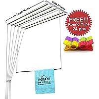RAINBOW DRYWELL 6 Pipes Luxury Cloth Dryer + Free 2 Dozen Round Clips