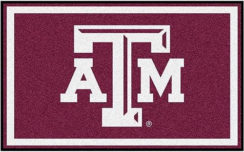 Fanmats Sports Team Logo Design Texas A M Rug 4×6 46 x72