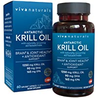 Krill Oil Supplement - Antarctic Krill Oil 1250 mg, Crill Oil Omega 3 with Astaxanthin...