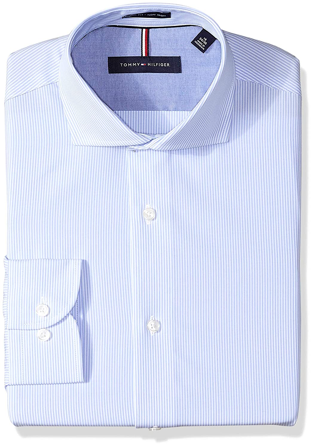 ebaa01b2 Spread collar, regular cuff, no pocket. Slim fit dress shirts have tapered  sleeves, higher arm holes, and a slimmer cut at the chest and waist