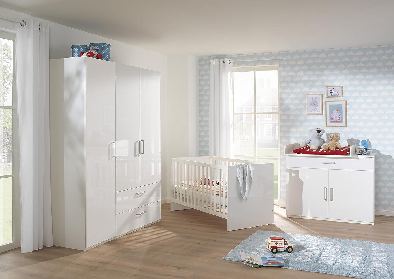 Wellemöbel, Glossy, Babyzimmer Set 5-tlg. RE001262, Alpinweiß ...