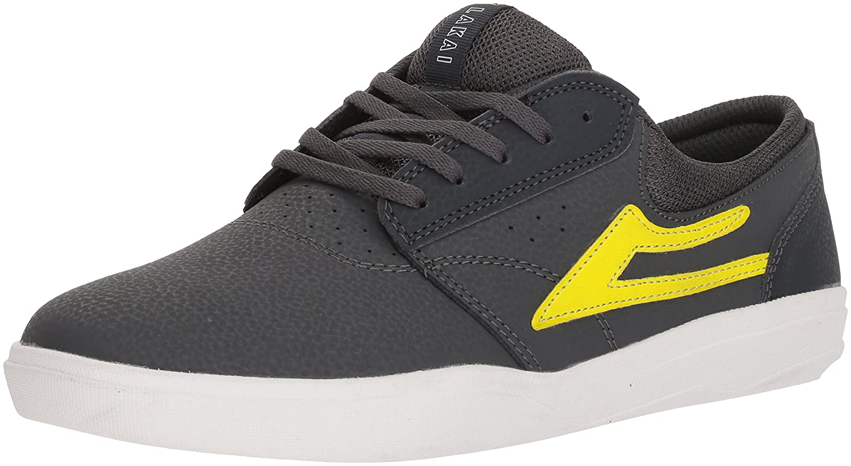 Lakai Griffin XLK Skate Shoe B073SNSY64 11.5 M US|Charcoal/Lime Nubuck