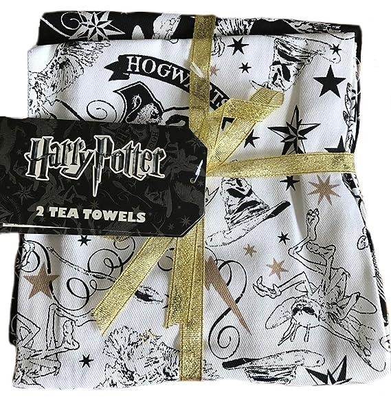 Primark Harry Potter Hogwarts Toallas de té de Unidades 2: Amazon.es: Hogar
