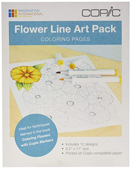 - Copic Flowers Line Art Coloring Pages-: Amazon.in: Office Products