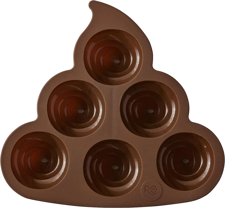 ROSANNA PANSINO by Wilton Silicone Poop Emoji Cake Pan - 6-Cavity Silicone Candy Mold