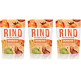 RIND Snacks Orchard Blend Peel-Powered Dried Superfruit, Persimmon, Apple, and Peach, No Sulfites, No Added Sugar, High Fiber, Antioxidant-Rich, Non-GMO, Gluten-Free, Vegan, 3oz, Pack of 3