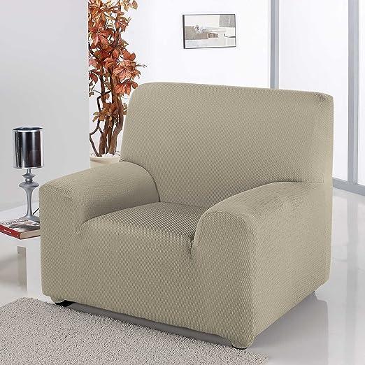 Funda elástica Homescapes para sillón individual Iris ...