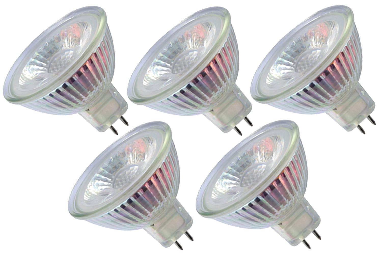 5er Set 5TGMR16-NT3 - LED Leuchtmittel GU5.3 MR16 12 Volt 3000K warm ...