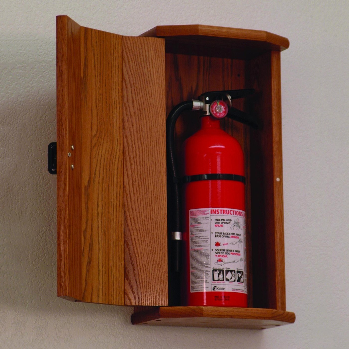 Wooden Mallet FEC20 10 lb. Fire Extinguisher Cabinet in Medium Oak from ABC Office