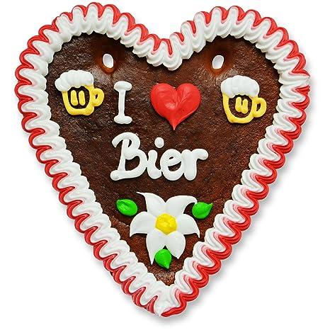 Lebkuchenherz - 18cm - Ich (liebe) Bier