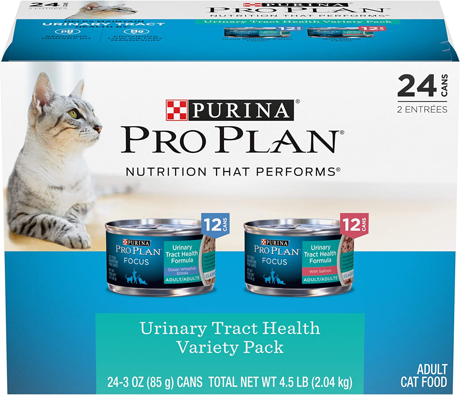 Purina Pro Plan Urinary Tract Health, High Protein Adult Wet Cat Food 3 oz. Cans