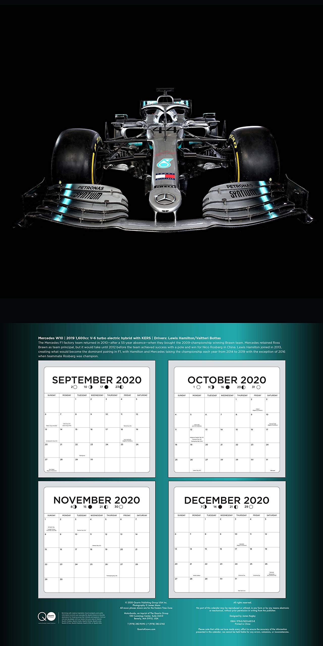 The Art Of The Formula 1 Race Car 2021 16 Month Calendar September 2020 Through December 2021 Mann James 9780760368138 Amazon Com Books