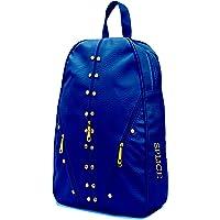 SPLICE Studded Casual Fashion Leather Shoulder Bag Backpack for Women Chest Bag Pack (Blue)