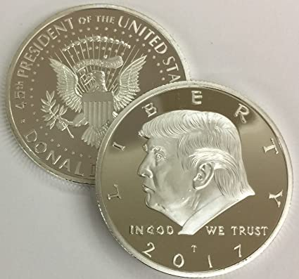 2017 President Donald Trump 24K Gold Plated Eagle Commemorative Coin 38mm