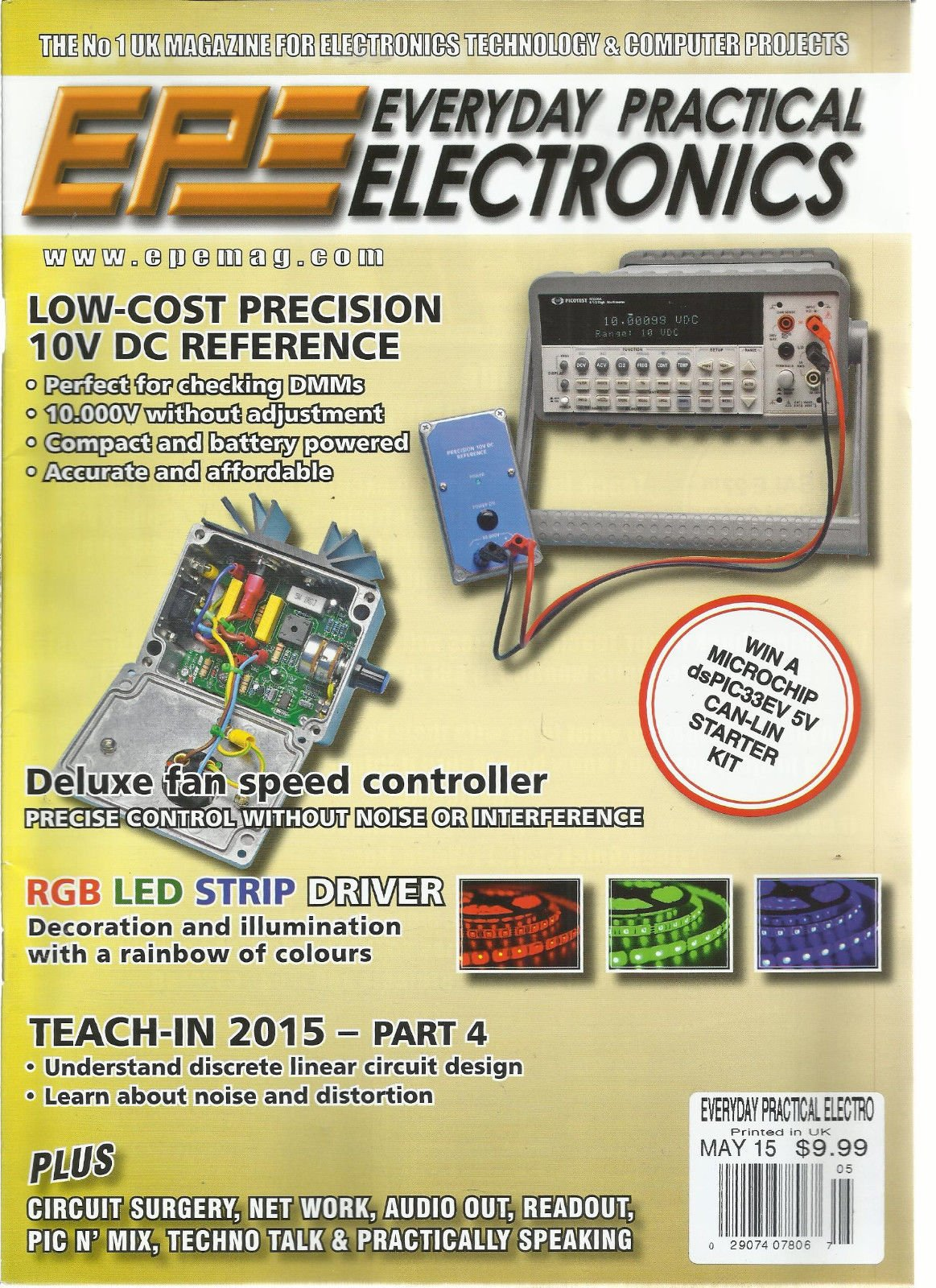 EPE EVERYDAY PRACTICAL ELECTRONICS, MAY, 2015 (LOW-COST PRECISION 10v DC