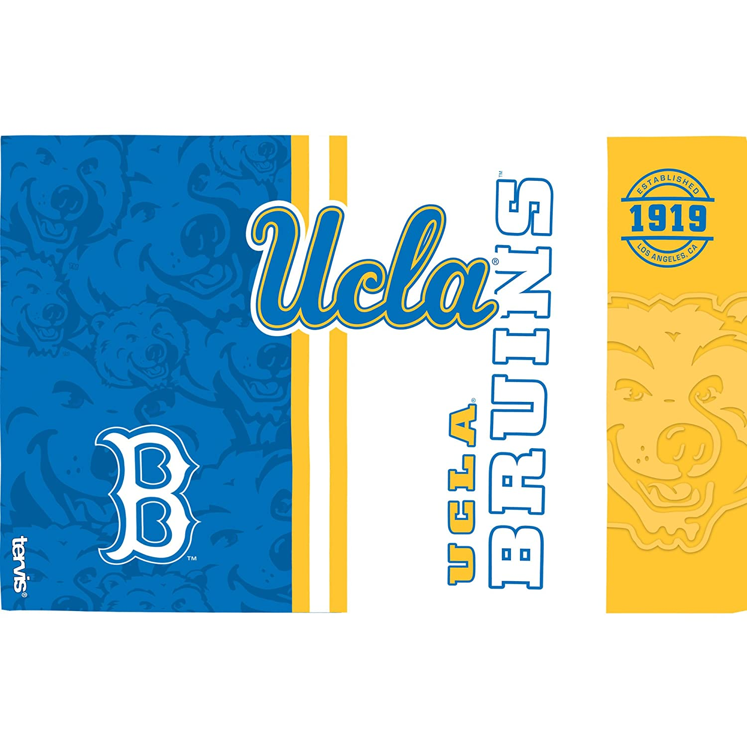 Clear Tervis 1229093 UCLA Bruins College Pride Tumbler with Wrap and Blue Lid 16oz