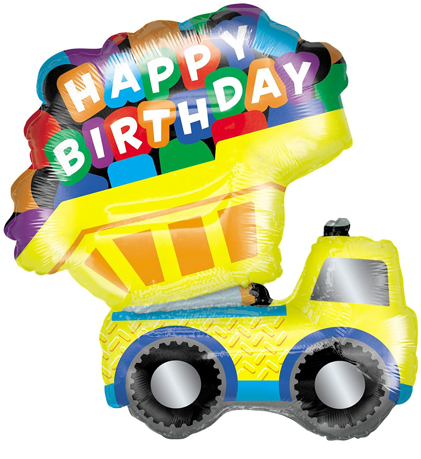 Dump Truck Jumbo 33 Foil Balloon Birthday Express 743936