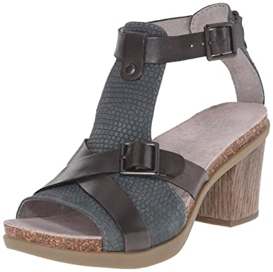 Dansko Women's Dominique Dress Sandal, Grey Leather, 40 EU/9.5-10 M