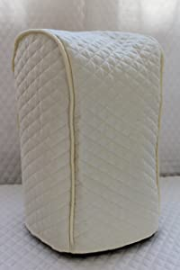 Cream Quilted Food Processor Cover