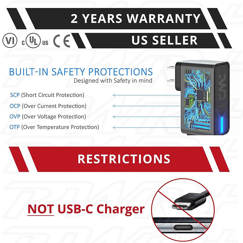 UL Listed 6.5 Ft Fastest 3.5A Charger Samsung-Galaxy Tab 3 4 A E S S2 7.0 8.0 8.4 9.6 9.7 10.5 10.1 12.2 Pro Kids Note 2014 Google-Nexus 7 9 10 EP-TA10JWE ETA-U90JWE U90JWEBXAR U90JBEGXAR ETA0U80JBE by PWR+ (Image #3)