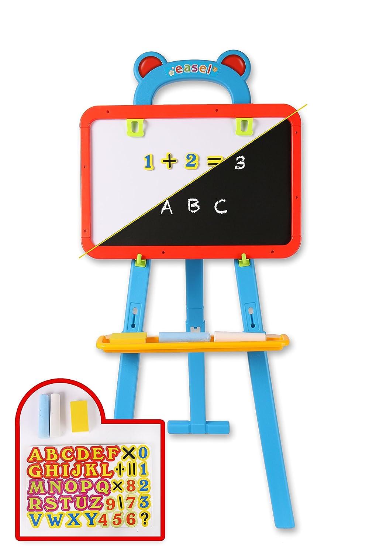 Blackboard 2 In 1 Wooden Blackboard Whiteboard Kit Children Drawing Writing Memo Board Alphabet Number Magnet Chalk Pen Kids Gifts Foldable Presentation Boards