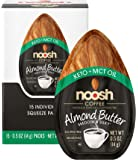 NOOSH Keto Almond Butter (Coffee, 15 Count) - All Natural, Vegan, Gluten Free, Soy Free - Ketogenic and Low Carb Friendly
