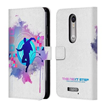 Oficial The Next Step ikonen Cartera Funda Carcasa de piel para móviles Motorola 2, compatible con Kompatibilität: Motorola DROID Turbo 2 / X Force: ...