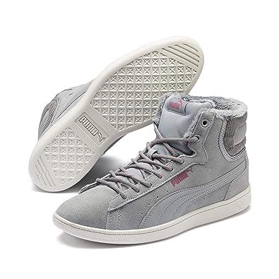0af80843f890 Puma Damen Sneakers Vikky Mid Corduroy – gefütterte Leder-Turnschuhe,  mittel-hoch mit
