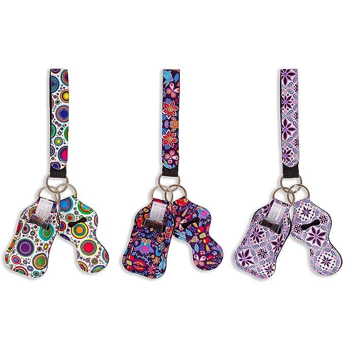 Save the girls pink ribbon Sanitizer Holder Keychain Hand Sanitizer Keeper Hand Sanitizer Case
