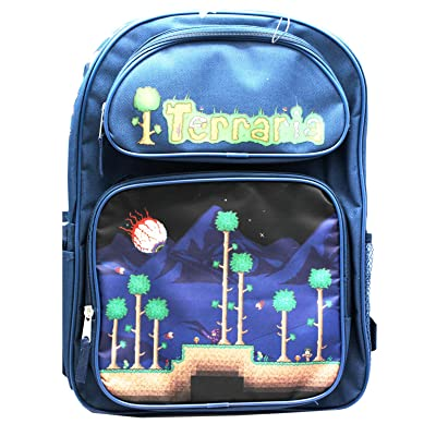 Terraria Navy Blue Boys Full Size School Backpack (16in) | Kids\' Backpacks [5Bkhe1000709]