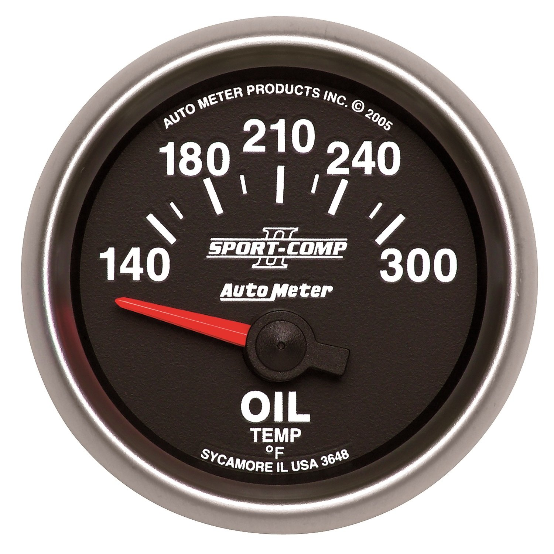 Auto Meter 3648 Sport-Comp II Electric Oil Temperature Gauge